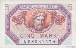 5 Mark SARRE  FRANCE  1947 VF.46.01 SPL+