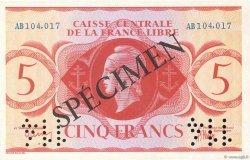 5 Francs AFRIQUE ÉQUATORIALE FRANÇAISE  1941 P.10s NEUF