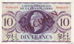 10 Francs AFRIQUE ÉQUATORIALE FRANÇAISE  1941 P.11s SPL