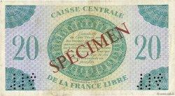 20 Francs AFRIQUE ÉQUATORIALE FRANÇAISE  1941 P.12s TTB