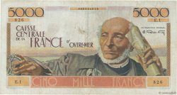 5000 Francs Schoelcher AFRIQUE ÉQUATORIALE FRANÇAISE  1946 P.27 TTB+