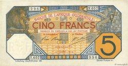 5 Francs PORTO-NOVO AFRIQUE OCCIDENTALE FRANÇAISE (1895-1958) Porto-Novo 1919 P.05E SUP+