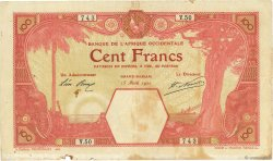 100 Francs GRAND-BASSAM  AFRIQUE OCCIDENTALE FRANÇAISE (1895-1958) Grand-Bassam 1920 P.11Dc TB+