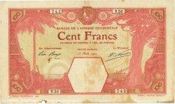 100 Francs GRAND-BASSAM AFRIQUE OCCIDENTALE FRANÇAISE (1895-1958)  1920 P.11Dc TB+