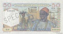 50 Francs AFRIQUE OCCIDENTALE FRANÇAISE (1895-1958)  1955 P.44s pr.NEUF