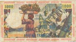 10 NF sur 1000 Francs ANTILLES FRANÇAISES  1961 P.02 TB+