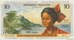 10 Francs ANTILLES FRANÇAISES  1964 P.08b SUP