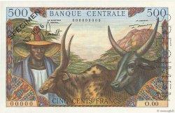 500 Francs type 1962 CAMEROUN  1962 P.11s pr.NEUF