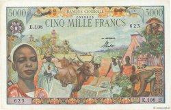 5000 Francs CENTRAFRIQUE  1963 P.06B SUP