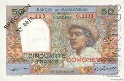 50 Francs COMORES  1960 P.02s2 NEUF