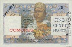 500 Francs COMORES  1960 P.04s1 pr.NEUF