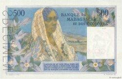 500 Francs COMORES  1960 P.04s2 pr.SPL