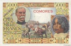 5000 Francs COMORES  1960 P.06s pr.NEUF