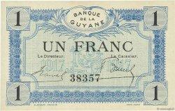 1 Franc GUYANE  1917 P.05 SUP+