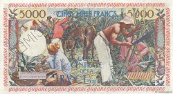 5000 Francs antillaise GUYANE  1960 P.28s SPL