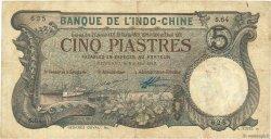 5 Piastres Haïphong INDOCHINE FRANÇAISE  1913 P.016b TB