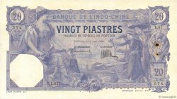 20 Piastres INDOCHINE FRANÇAISE Saïgon 1920 P.041 TTB+