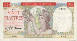 20 Piastres INDOCHINE FRANÇAISE  1949 P.081a SUP+