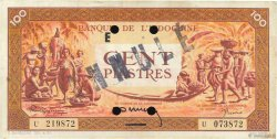 100 Piastres orange Annulé FRENCH INDOCHINA  1942 P.066s VF+