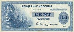 100 Piastres INDOCHINE FRANÇAISE  1945 P.078a SUP