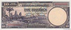 10 Piastres INDOCHINE FRANÇAISE  1947 P.080s NEUF