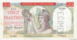 20 Piastres INDOCHINE FRANÇAISE  1949 P.081s SUP+