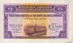 25 Piastres LIBAN  1942 P.36 SUP