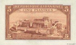 5 Piastres LIBAN  1950 P.46 SPL