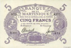 5 Francs Cabasson violet MARTINIQUE  1946 P.06 SPL