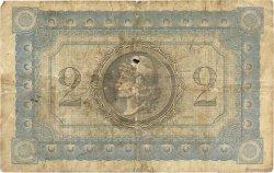 2 Francs MARTINIQUE  1915 P.11 B à TB
