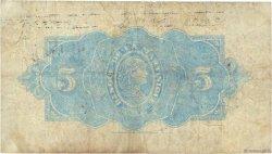 5 Francs type Américain MARTINIQUE  1942 P.16b TB+
