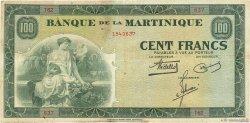 100 Francs type Américain MARTINIQUE  1942 P.19a TTB