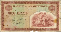 1000 Francs  MARTINIQUE  1942 P.21a B