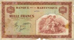 1000 Francs type Américain MARTINIQUE  1942 P.21a B