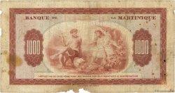 1000 Francs MARTINIQUE  1942 P.21a B