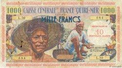 10 NF sur 1000 Francs pêcheur MARTINIQUE  1960 P.39 B+