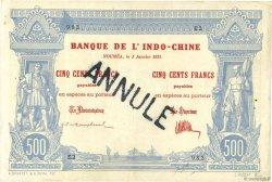 500 Francs NOUVELLE CALÉDONIE  1921 P.22 TTB