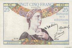 25 Francs ÎLE DE LA RÉUNION  1944 P.23 TTB+