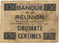 50 Centimes ÎLE DE LA RÉUNION  1943 P.33 B