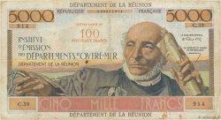 100 NF sur 5000 Francs Schoelcher ÎLE DE LA RÉUNION  1967 P.56 TB