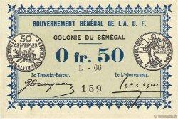 50 Centimes SÉNÉGAL  1917 P.01c pr.NEUF
