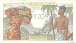 1000 Francs TAHITI  1940 P.15aS SPL