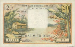 20 Dong SOUTH VIETNAM  1956 P.004a UNC-