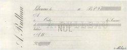 Francs FRANCE régionalisme et divers LIBOURNE 1850 DOC.Chèque SUP