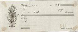 Francs FRANCE régionalisme et divers Puteaux 1870 DOC.Chèque TTB