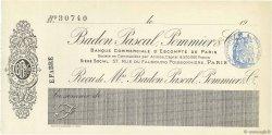 Francs FRANCE régionalisme et divers Paris 1908 DOC.Chèque SUP