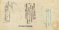 550 Francs FRANCE régionalisme et divers VANNES 1925 DOC.Chèque TB
