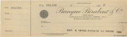 Francs FRANCE régionalisme et divers PARIS 1930 DOC.Chèque SPL