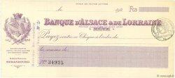 Francs FRANCE régionalisme et divers Metz 1920 DOC.Chèque SUP