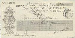 3000 Francs FRANCE régionalisme et divers Dinan 1939 DOC.Chèque SUP